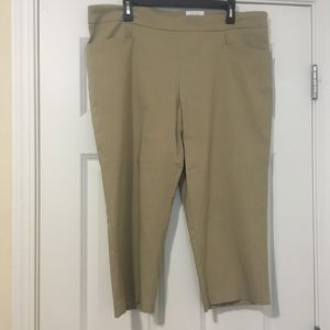 New XXL Size 20 Beige Time and Tru Pull On Capris